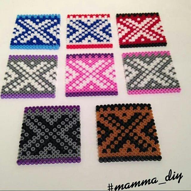 Marius muster coaster set hama beads by mamma_diy