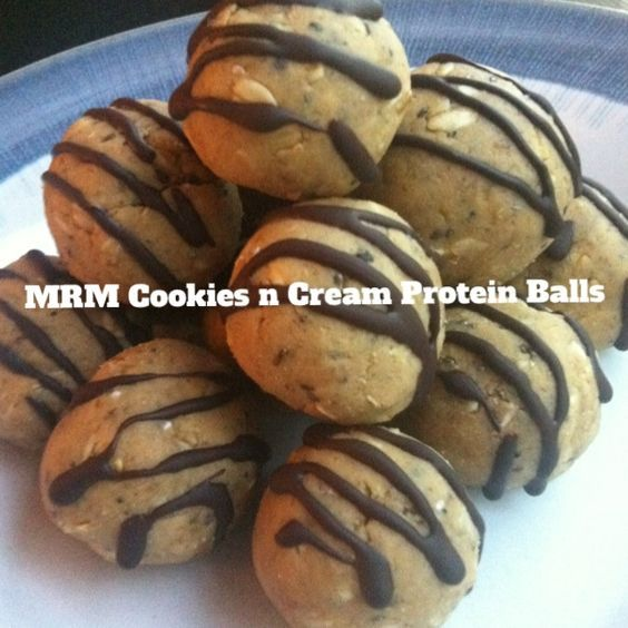 Cookies & Cream Protein Balls (cookies and cream protein powder, chocolate better than PB) | ripped recipes