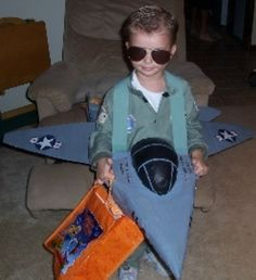 If you've got a little guy who loves planes, let Top Gun be your inspiration and create a fun airplane costume.