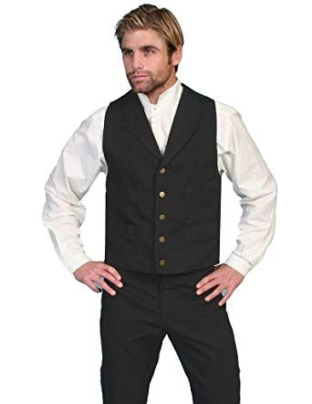 deebc12b Scully Old West Vest Mens Western Lined Button Cotton Canvas RW041 Review