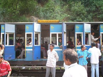 'Toy Train' Ooty... 5ish hours. the way to get up to Ooty hill station. scenery.