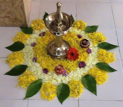 Flower rangoli; Diwali
