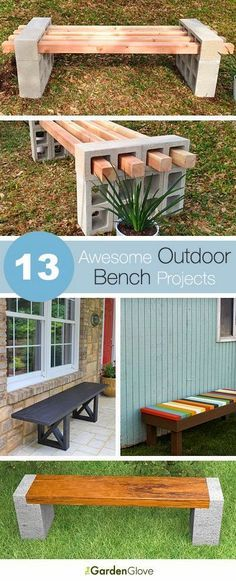 Best DIY Projects: 13 Awesome Outdoor Bench Projects, Ideas & Tutorials!