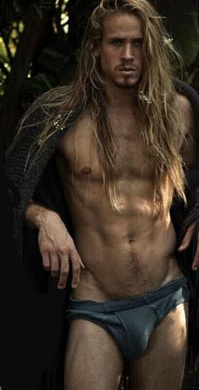 naked man long hair