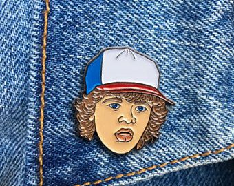 Dustin Pin, Soft Enamel Pin, Lapel Pin, Stranger Things, Gift, Jewelry, Art (PIN127)