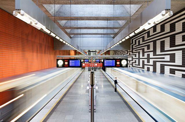 One of Munich, Germany's beautiful U-Bahn stations