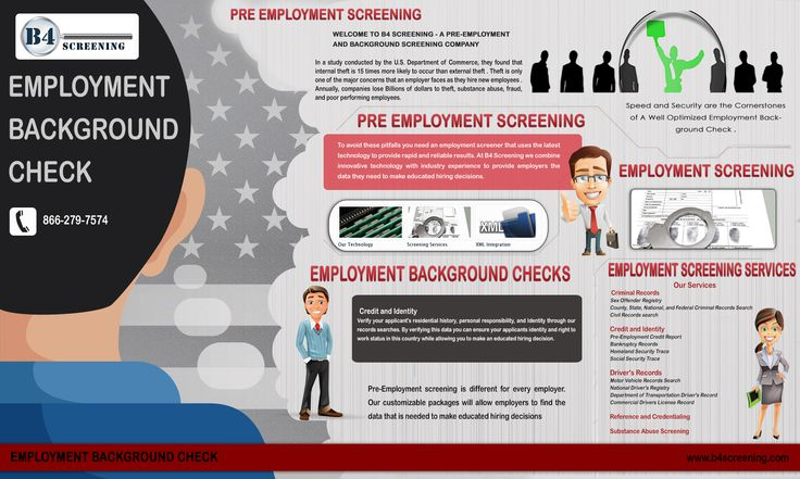 Employers conduct Employment Background Checks for a variety of reasons. With the rise of lawsuits for negligence, many employers are considering employee background checks a standard part of their Human Resource guidelines. Click this site http://b4screening.com for more information on Employment Background Checks.