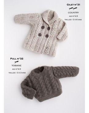 Modèle Gilet CB17-31 Cheval Blanc - Patron tricot gratuit