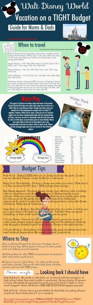 Planning a 2015 Walt Disney World Vacation? Check out these CHEAP dates for travel, frugal tips to save on your vacation & ideas from parents just like you.... ☺️