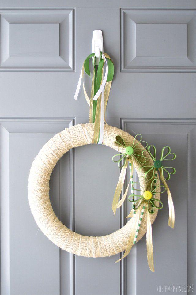 Весенний венок своими руками. Сегодня я хочу поделиться с вами прекрасным мастер классом по созданию весеннего веночка на дверь.