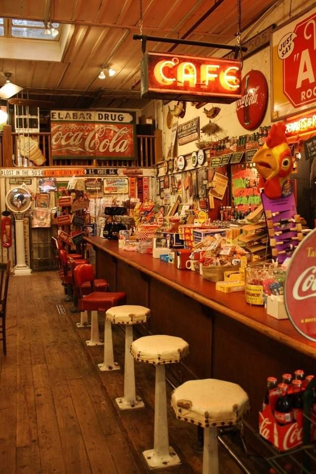 old soda fountain shop- I would love to visit this place