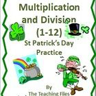 This St. Patrick's Day Multiplication and Division Practice contains 2 pages of practice along with 2 pages of answers. Use this as seat work, cent...