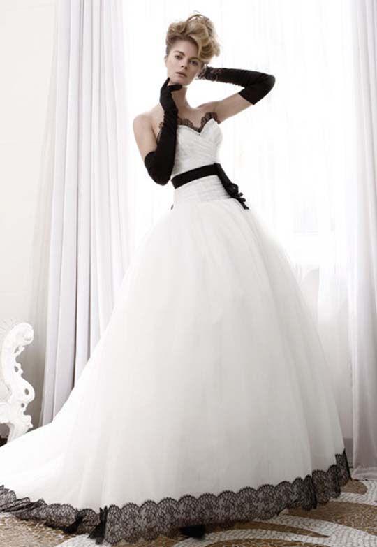 Vestido de novia blanco y negro Atelier Aimee 2011 Collection Black and White Wedding Dresses Ideas-2