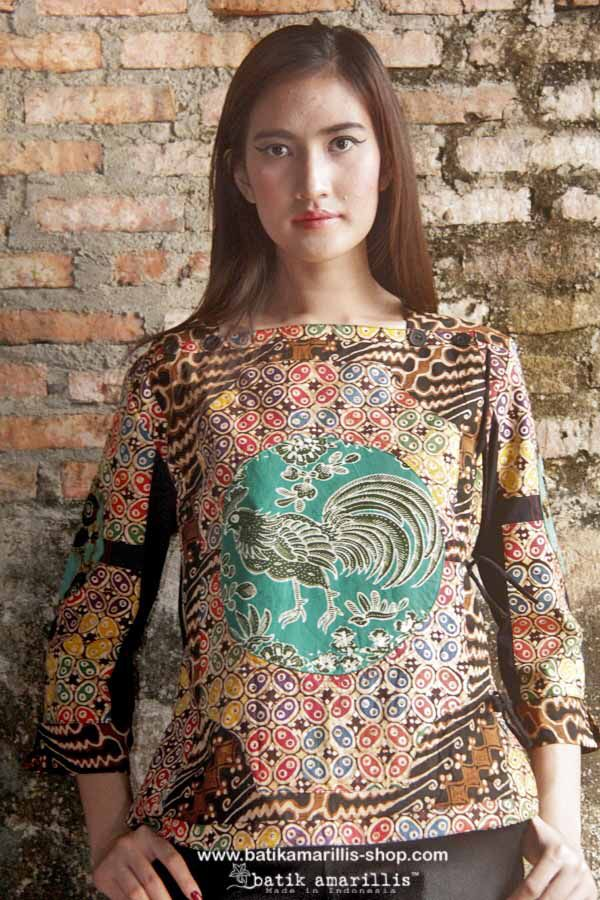 Batik Amarillis made  in Indonesia proudly presents Batik Amarillis's Aracely Jacket We name it Aracely = Altar of the sky.... Such a glorious piece which features array of color & patchwork played various batiks of Indonesia.