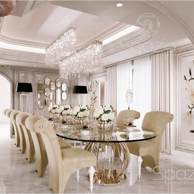 Luxury Dining Room The Design Is Created By A Designer Of Spazio Diningroom Interiorde Luxury Dining Room Dining Room Furniture Modern Dream Dining Room