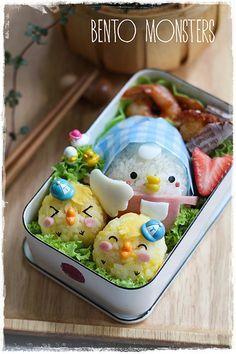 Bento, Monsters: Hen & Chick Bento
