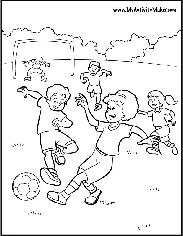 Soccer Worksheets For Kids Coloring Coloring Pages For Kids Worksheets For Kids Coloring For Kids