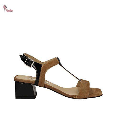 CAFèNOIR Sandal, Sandales pour femme - Noir - Schwarz (010 NERO), Taille 37 EU