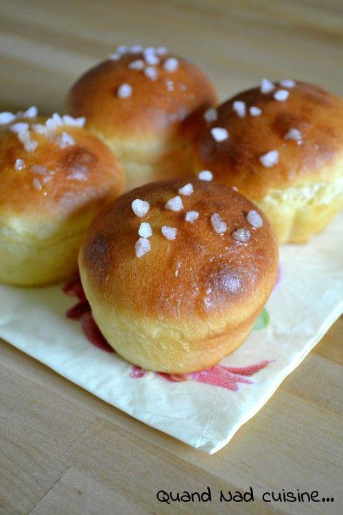 Briochettes à la crème fraîche et sucre perlé