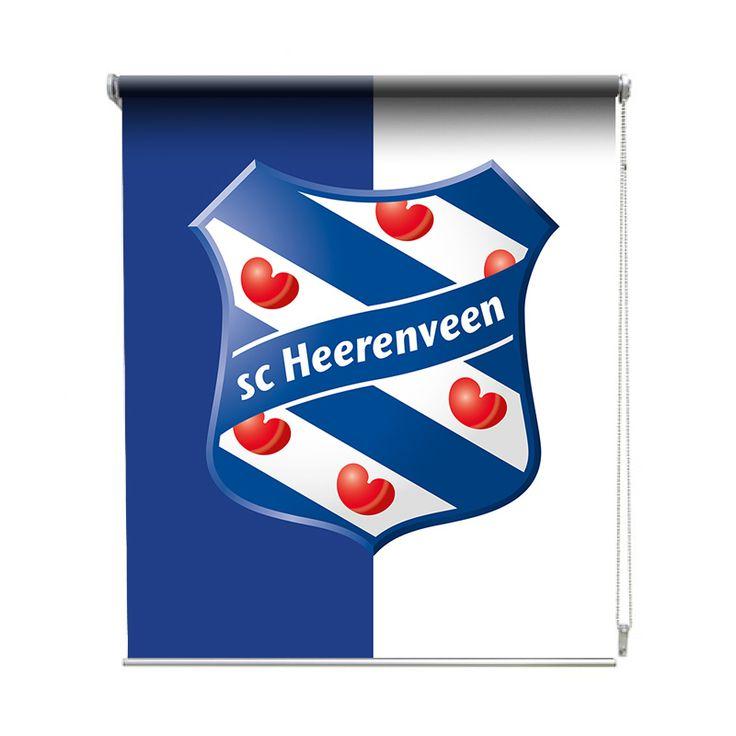 Rolgordijn SC Heerenveen| De rolgordijnen van YouPri zijn iets heel bijzonders! Maak keuze uit een verduisterend of een lichtdoorlatend rolgordijn. Inclusief ophangmechanisme voor wand of plafond! #rolgordijn #gordijn #lichtdoorlatend #verduisterend #goedkoop #voordelig #polyester #scheerenveen #heerenveen #voetbal #club #suporter #sport #logo #embleem #friesland #fryslan #fries #jongenskamer