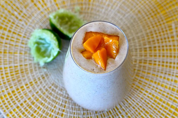 Tropical Delight Mango, Passionfruit & Lime (Raw Egg) Smoothie - The Holistic Ingredient.