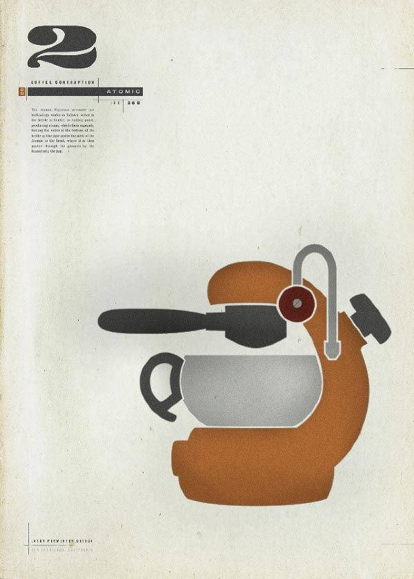Atomic Espresso - Coffee Contraptions Poster by Jason Permenter
