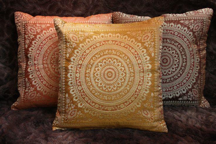 Mandala Kissenbezug Brokat Deko-Kissen Indien Kissenhülle Orient 40 x 40   eBay