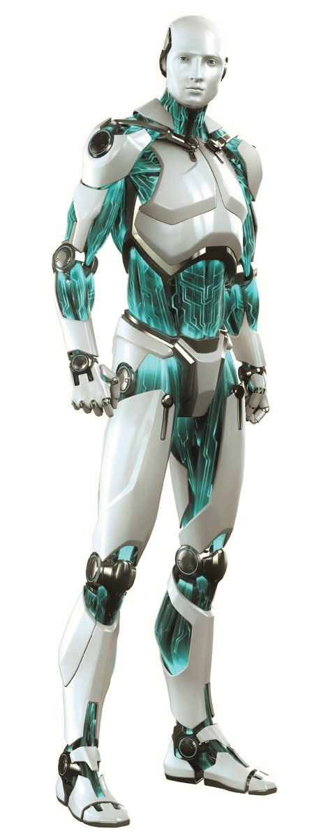 androide Smart Security Robot by Puppetworks Studios for Eset *the light blue-green accents are intriguing *