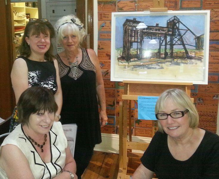 ilovebrokenhill.com At Broken Hill Regional Art Gallery art exhibition opening 28 November 2014 with back L-R Jane Deany & Julie Horsburgh & front Angela & Maureen Clark #BrokenHill #art