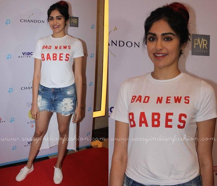 Adah Sharma Outfits, Adah Sharma in Shorts, Adah Sharma in T-Shirts.