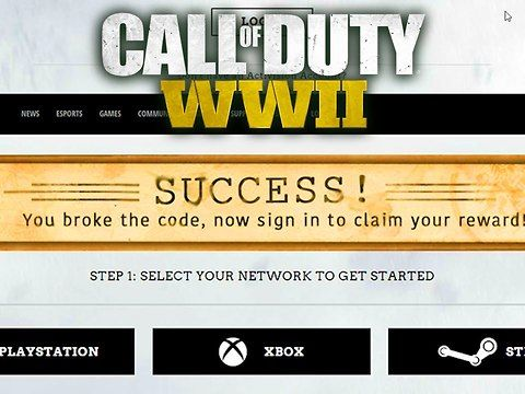 "Get Free Call Of Duty WWII In Came Loot How to Unlock the Enigma Cipher Calling Card CODWW2 to get the free callong card on call of duty WW2 Go here to input the codes! <a href=""https://www.callofduty.com/wwii/class"" rel=nofollow target=_blank>https://www.callofduty.com/wwii/class</a>...<br><br>The first set of code is a set of three: IUFDJ - BHLOP - JMUBA<br>Then the second tier code is a set of 5: GNULV - YGXSH - CEODL - IBHQB - QKEQW<br>From there you will want to navigate to the dossier…"