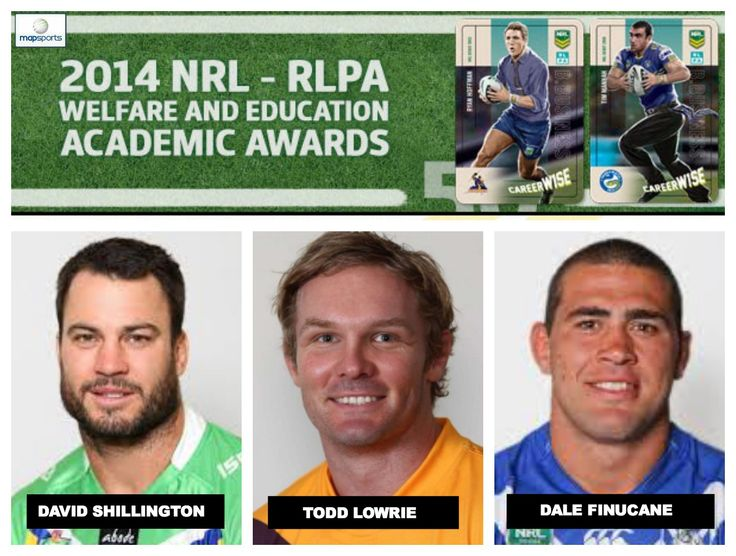 Map Sports congratulates 3 NRL player's selection in 2014 NRL/RLPA Academic Team of the Year, awarding efforts of players furthering their careers off the field. Canberra Raiders David Shillington, studying Bach of Business & Dip of Business at Uni of Canberra. Brisbane Broncos Todd Lowrie, pursuing a Cert IV in Project Mgmt & Cert IV in Small Bus at the Capital Training Inst & Arouni Tech. Canterbury Bulldogs Dale Finucane, attending ACPE in Homebush, undertaking Bachelor of Health…