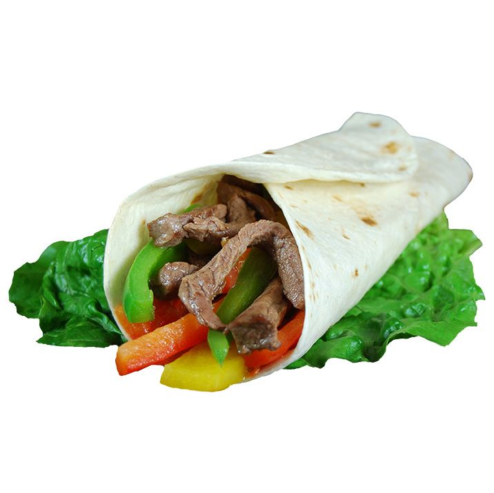 Sizzling Steak Fajita Wrap. Perfect for a holiday party.