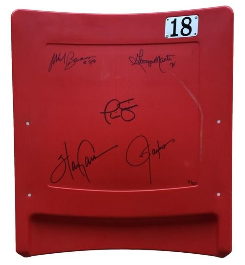 NY Giants Signed SB XXI Seatback 5 Signatures Simms Taylor+ Limited 100 Steiner