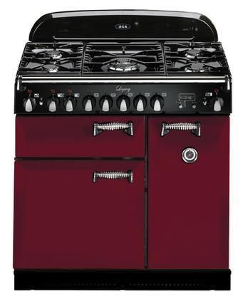 """ALEG36DFCRN Legacy Series 36"""" Freestanding Pro-Style Dual Fuel Range with 5 Sealed Burners 2.2 cu. ft. Convection Oven 1.8 cu. ft. 7 Mode Multifunction Oven and Solid Doors in Cranberry"""