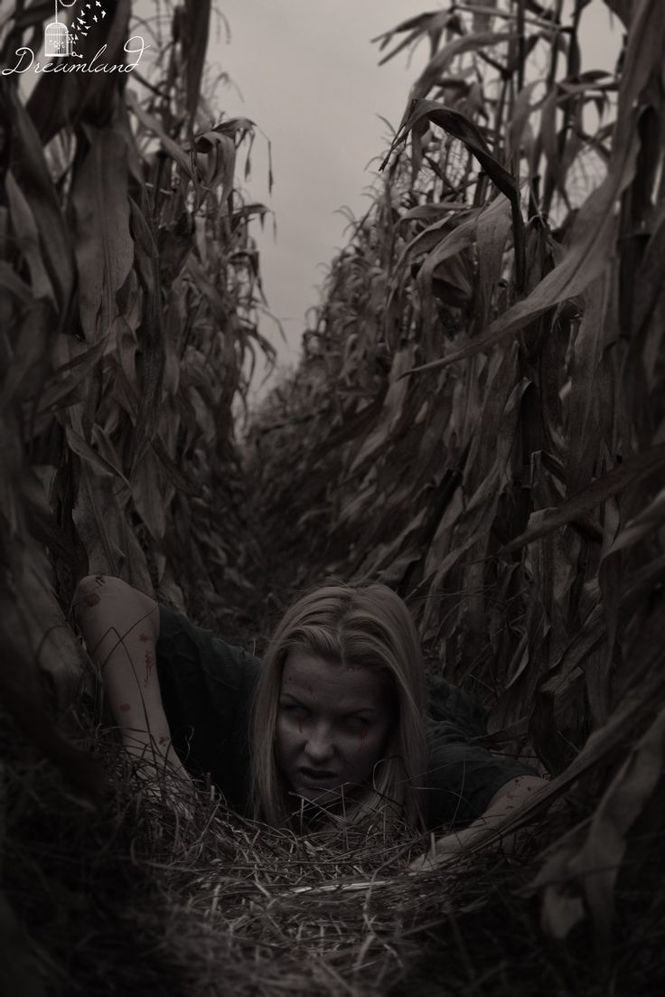 Dreamland Photography  #horror #corn #halloween #horrorphoto #girl #dreamland