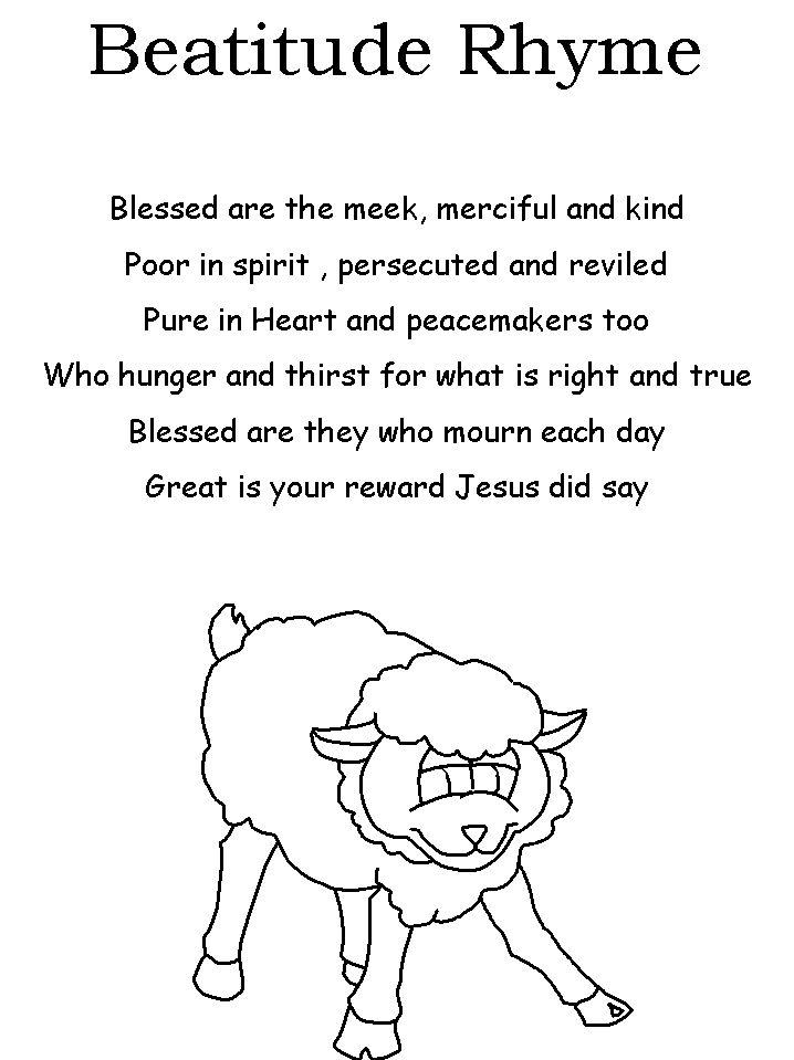 8 beatitudes coloring sheet beatitudes craft beatitudes poem