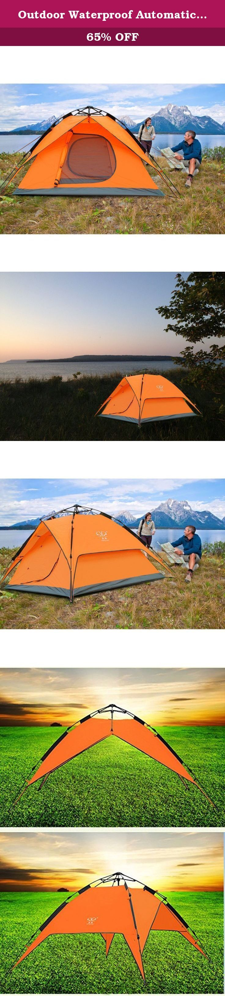 Outdoor Waterproof Automatic 3-4-Person Double Layer Camping Family Tents SY (orange). Order from us you will enjoy Top Grade after-sales service. 2 Years Quality Warranty. Specification: Material:210T polyester rainfly Sheet Material:150D oxford Overall dimensions : 215 x 200 x 145cm/84.6 x 78.7 x 57inch Compact dimensions : 15 x 15 x 75cm/5.9 x 5.9 x 29.5inch Feature: 1 interior mesh pocket for keeping your gear organized 1 hook on the roof for hanging the lamp or other light stuff...