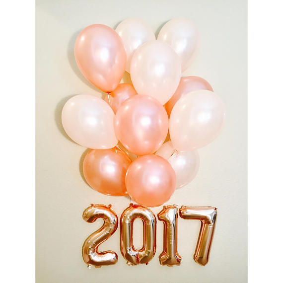 Rose Gold Balloon Letters 2017 Rose Gold Graduation Rose