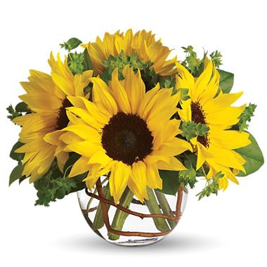 a sunflower center piece, so pretty