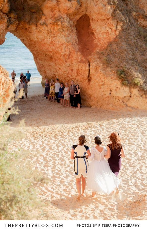 small beach wedding ceremony ideas%0A Intimate wedding ceremony on the beach   Photographers  Piteira  Photography  Wedding Dress  Carmelita