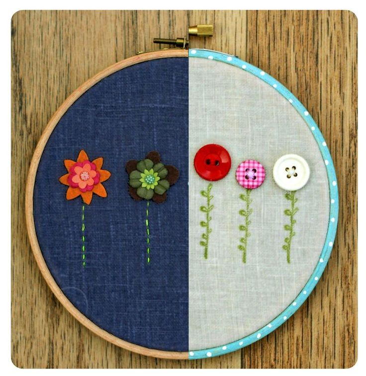 Love embroidery hoop wall art!
