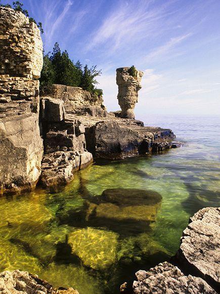 Picture of Flowerpot Island, Ontario, Canada