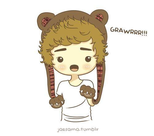 One Direction cartoon | Liam bear, rawr