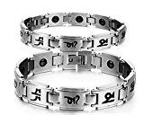Health Care Bio Magnetic Bracelet | Titanium Magnetic Bracelet for Men and Women | Magnetic Bracelet for Pain Relief Therapy Balance and Energy | Silver Color(Women)