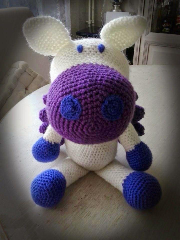 CreAnka, #haken, gratis patroon, Nederlands, pegasus, paard, knuffel, #crochet, free pattern (Dutch), flying horse, stuffed toy