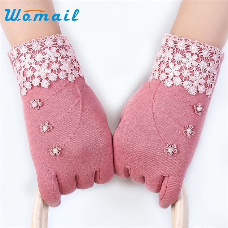 Womail Luva female Gloves Winter for Fitness Women Guantes Mujer 2017 Lace Screen Wrist Mittens Gloves Gift 1pair #women, #men, #hats, #watches, #belts, #fashion, #style