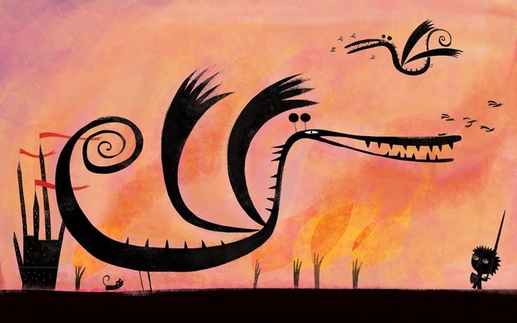 Dragons!  http://petitefamillegouny.blogspot.fr/2013/03/le-dragon-du-mercredi.html