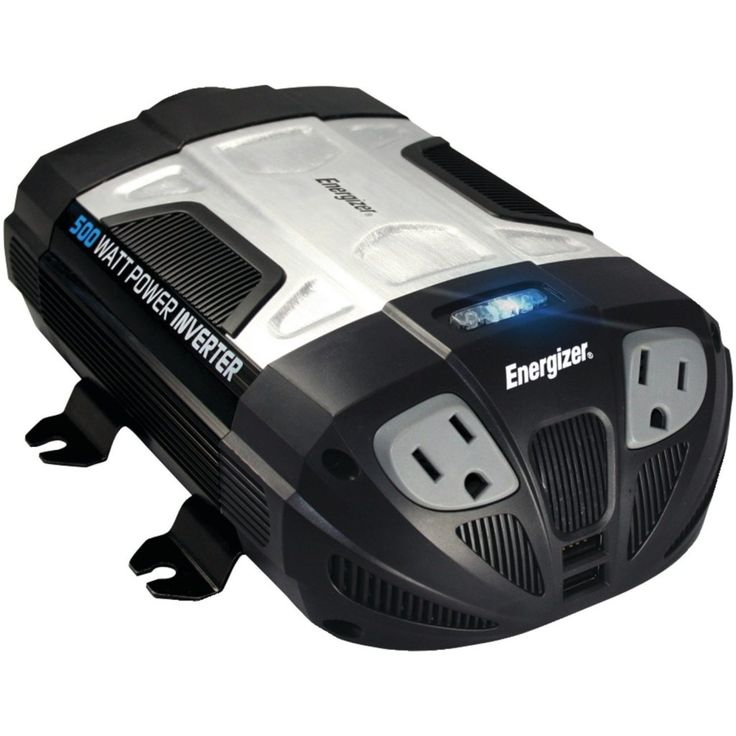 ENERGIZER 500W DC Car Power Inverter is a portable 12v power #inverter that will permit you to connect to any number of electronic gadgets and also charge tablets and telephones through USB ports.