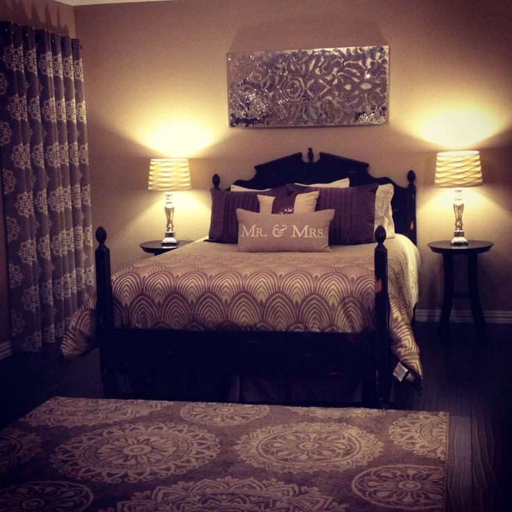 Mr and Mrs newlywed bedroom decor  Home decor  Newlywed bedroom Bedroom decor Romantic bedroom design